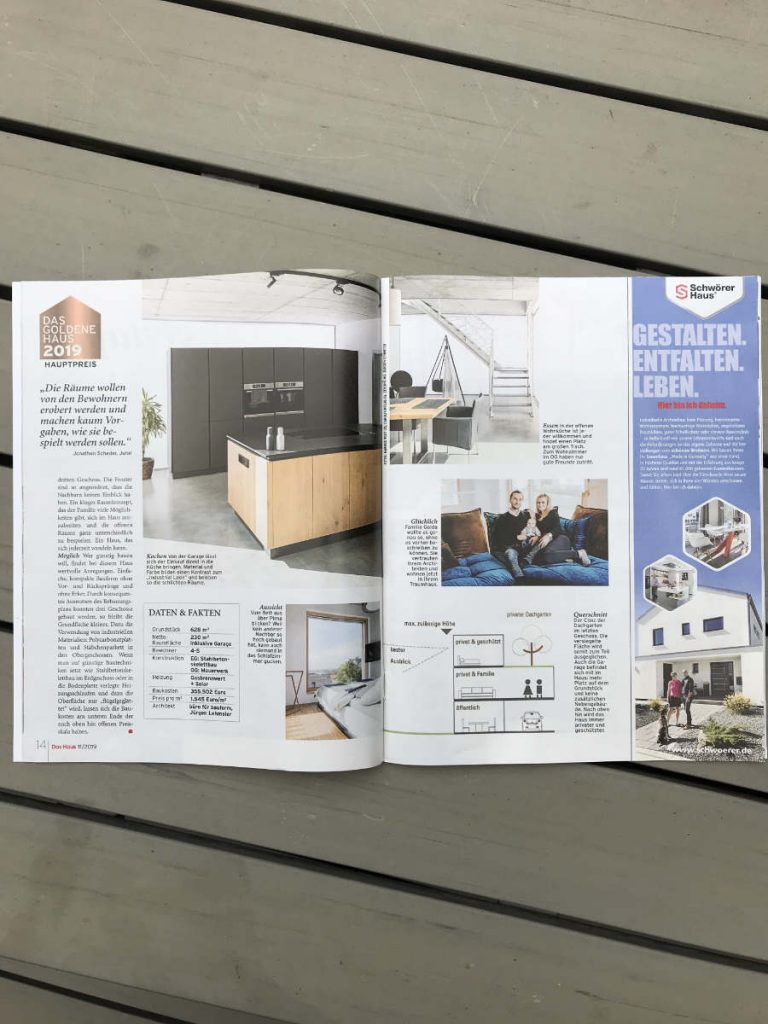 """Zeitschrift """"DAS HAUS"""" - Ausgabe November 2019"""
